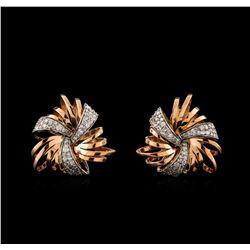 14KT Rose Gold 0.50 ctw Diamond Earrings