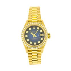 Rolex 18KT Gold Lady President Diamond DateJust Ladies Watch