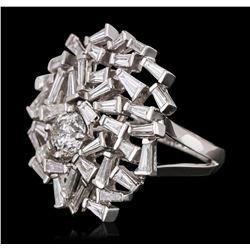18KT White Gold 3.58 ctw Diamond Ring