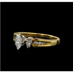 0.53 ctw Diamond Ring - 14KT Yellow and White Gold