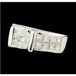2.85 ctw Diamond Ring - 14KT White Gold