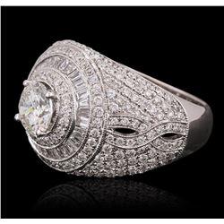 18KT White Gold 2.97 ctw Diamond Ring