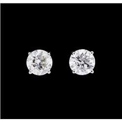 1.34 ctw Diamond Earrings - 14KT White Gold