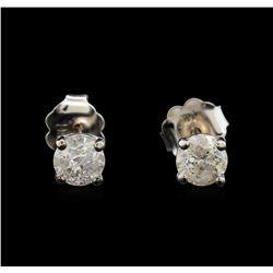 14KT White Gold 0.68 ctw Diamond Stud Earrings