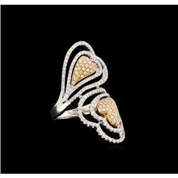 1.44 ctw Diamond Ring - 18KT Rose and White Gold
