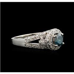 1.22 ctw Fancy Blue Diamond Ring - 14KT White Gold