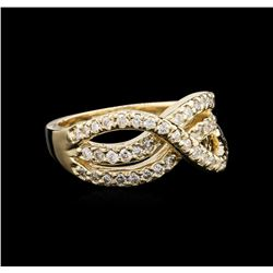 14KT Yellow Gold 0.49 ctw Diamond Ring