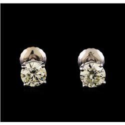 14KT White Gold 1.23 ctw Diamond Solitaire Earrings
