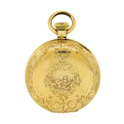 Antique Elgin Full Hunter Pocket Watch - 14KT Yellow Gold