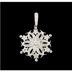 1.69 ctw Diamond Pendant - 18KT White Gold