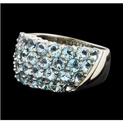 Aquamarine Ring - Platinum