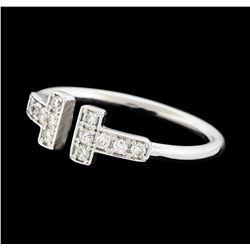 0.21 ctw Diamond Ring - 14KT White Gold