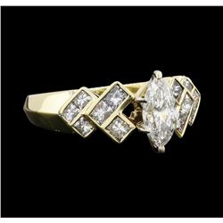 1.65 ctw Diamond Ring - 14KT Yellow and White Gold
