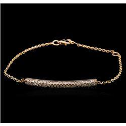 0.54 ctw Diamond Bracelet - 14KT Rose Gold