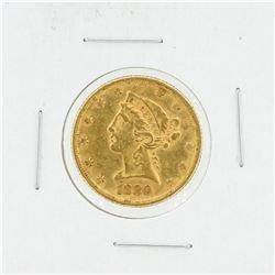 1880 $5 AU Liberty Head Half Eagle Gold Coin