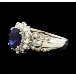 1.25 ctw Sapphire and Diamond Ring - Platinum
