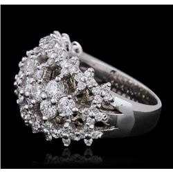 14KT White Gold 2.67 ctw Diamond Ring