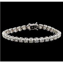 18KT White Gold 9.66 ctw Diamond Tennis Bracelet