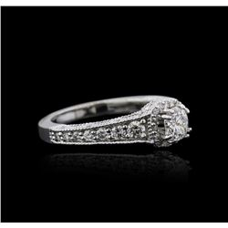 14KT White Gold 1.22 ctw Diamond Ring