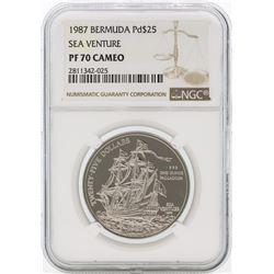 1987 PF70 Cameo Sea Venture $25 Bermuda