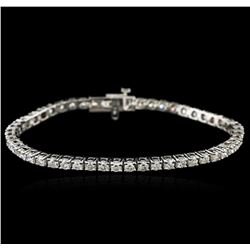 14KT White Gold 4.80 ctw Diamond Tennis Bracelet