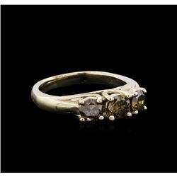 1.21 ctw Fancy Brown Diamond Ring - 14KT Yellow Gold