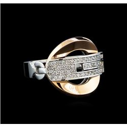 0.24 ctw Diamond Ring - 14KT White and Rose Gold