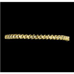 1.00 ctw Diamond Tennis Bracelet - 14KT Yellow Gold
