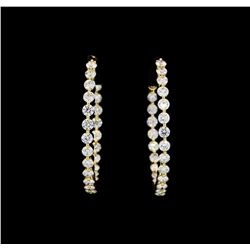 4.00 ctw Diamond Earrings - 18KT Yellow Gold