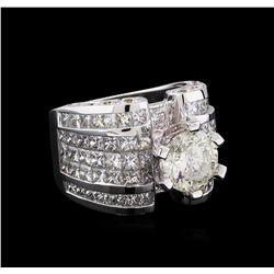 18KT White Gold 12.74 ctw Diamond Ring