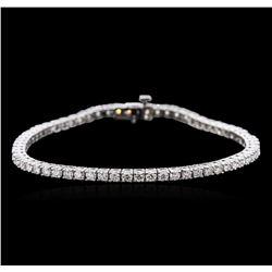 14KT White Gold 4.62 ctw Diamond Tennis Bracelet
