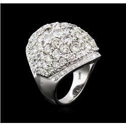 9.58 ctw Diamond Ring - 14KT White Gold