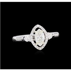EGL USA Cert 0.75 ctw Diamond Ring - 18KT White Gold