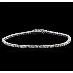 18KT White Gold 2.34 ctw Diamond Tennis Bracelet