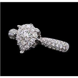 0.88 ctw Diamond Ring - 18KT White Gold