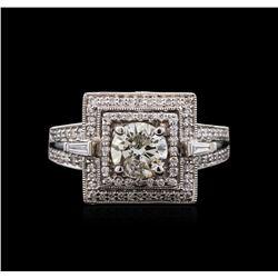 1.79 ctw Diamond Ring - 18KT White Gold