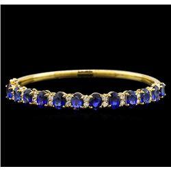 14KT Yellow Gold 11.10 ctw Sapphire and Diamond Bracelet