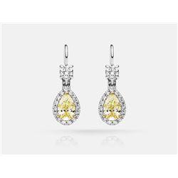 Diamond Earrings - 18KT Two-Tone Gold