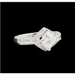 EGL USA Cert 1.92 ctw Diamond Ring - 18KT White Gold