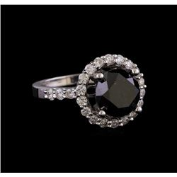 4.27 ctw Black Diamond Ring - 14KT White Gold