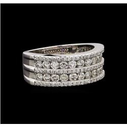 18KT White Gold 0.91 ctw Diamond Ring