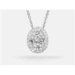 Diamond Pendant - 14KT  White Gold