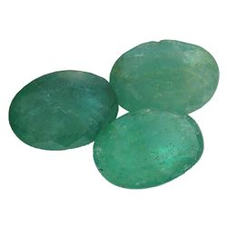 8.68 ctw Oval Mixed Emerald Parcel
