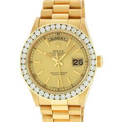 Rolex 18KT Gold President 3.00 ctw Diamond DayDate Men's Watch