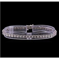 0.97 ctw Diamond Tennis Bracelet - 10KT White Gold