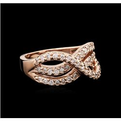 14KT Rose Gold 0.50 ctw Diamond Ring