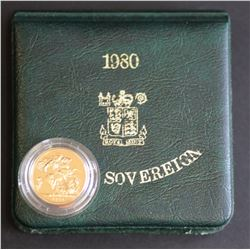 1980 GB Proof Sovereign in Box + Cert