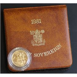 1981 GB Proof Sovereign in Box + Cert
