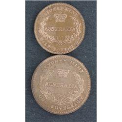 David Gee Fascimile Sov & ½ Sov Prooflike 1853