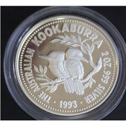 1993  2 ounce Kookaburra in Leather case